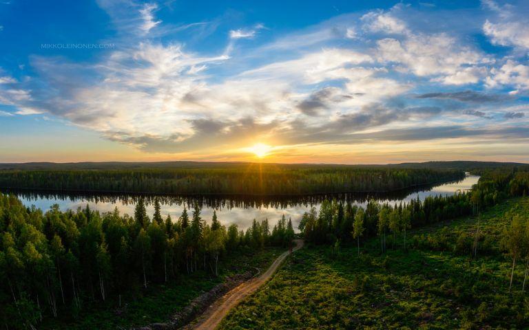 RIver Kostonjoki sunset