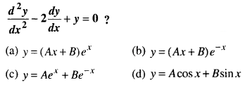 Maths MCQs for Class 12 with Answers Chapter 9 Differential Equations Q74