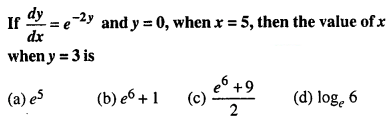 Maths MCQs for Class 12 with Answers Chapter 9 Differential Equations Q38