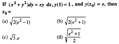 Maths MCQs for Class 12 with Answers Chapter 9 Differential Equations Q43