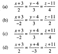 Maths MCQs for Class 12 with Answers Chapter 11 Three Dimensional Geometry Q19
