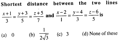Maths MCQs for Class 12 with Answers Chapter 11 Three Dimensional Geometry Q41