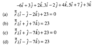Maths MCQs for Class 12 with Answers Chapter 11 Three Dimensional Geometry Q51