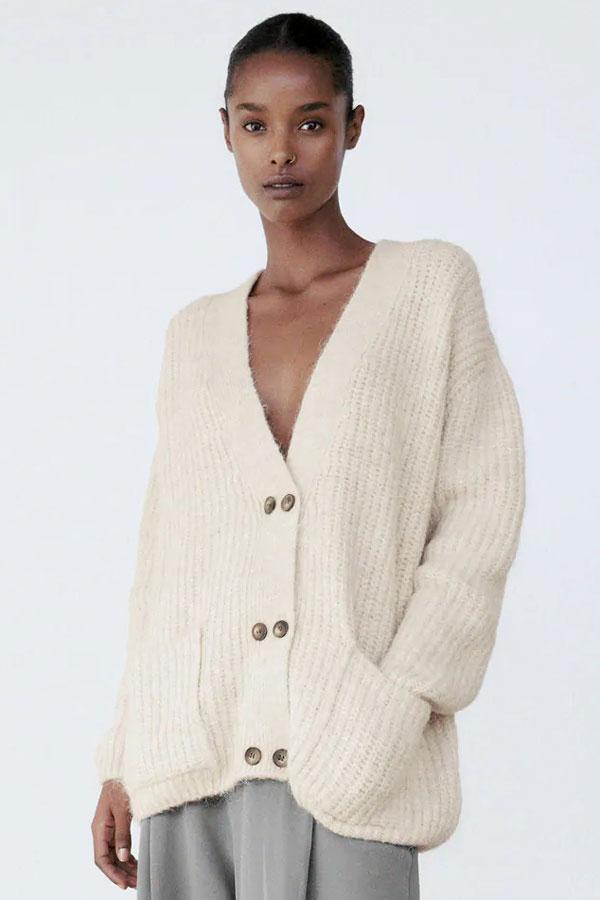 zara-oversized-knit-jacket-cardigan-nude-beige-v-neck-pockets