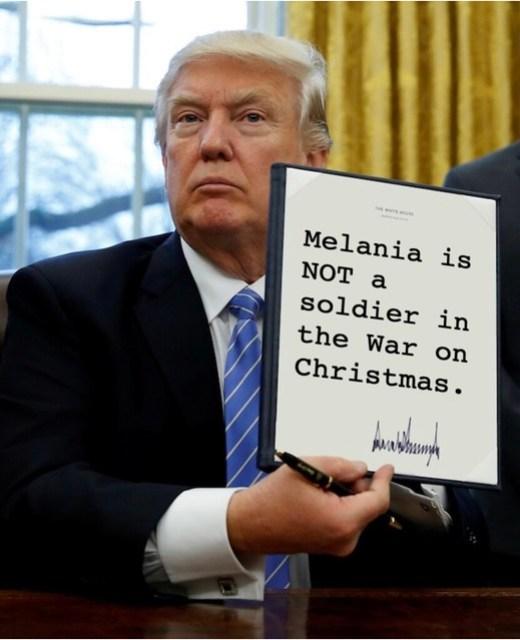 Trump_melaniawaronchristmas