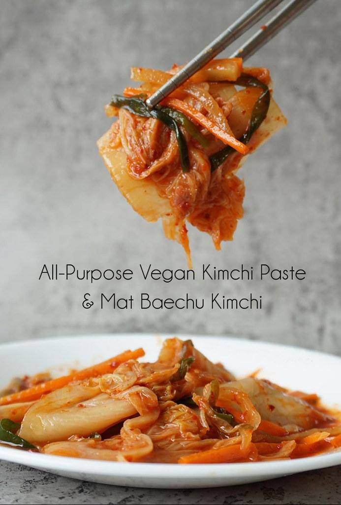 All-Purpose Vegan Kimchi Paste and Mat Baechu (Simple Cabbage) Kimchi