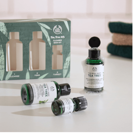 The Body Shop Tea Tree 123 Clearer Skin Kit