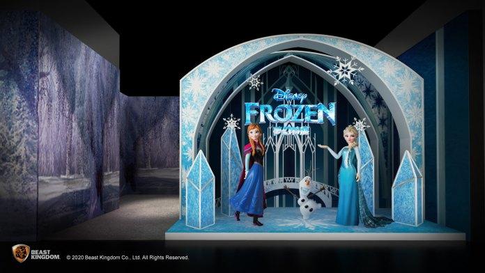 Frozen 冰雪王國之門 - 愛莎女王、安娜公主及小白將於展覽入口恭迎大家,體驗不一樣的魔雪奇緣之旅。