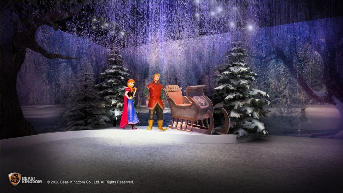 冰晶森林 - 與兩大主角愛莎及基斯托夫於漫天飛雪的浪漫森林冒險,共享甜美時光。