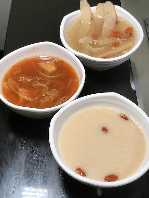 Soups at I'm Kim Korean BBQ.
