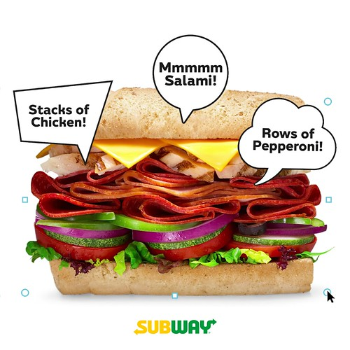 Subway Meat Stack Digital Ad Placement 1
