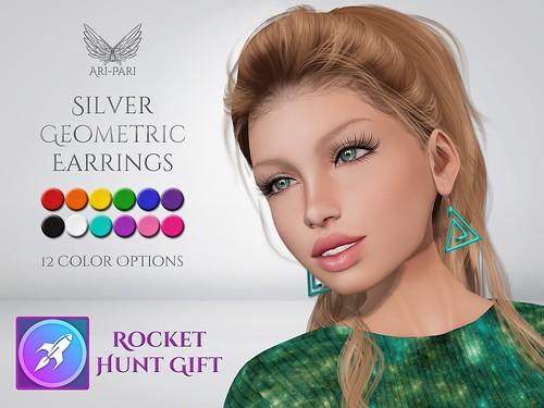 [Ari-Pari] Silver Geometric Earrings