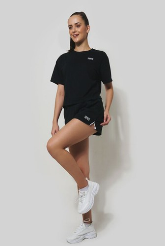 Penshoppe Move Boxy Tee With Special Print (Black)