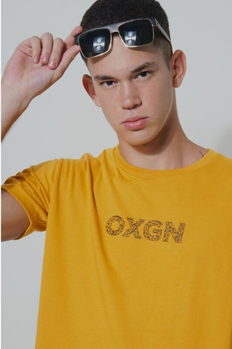 OXGN Men's Easy Fit Tee With Special Print (Mustard)