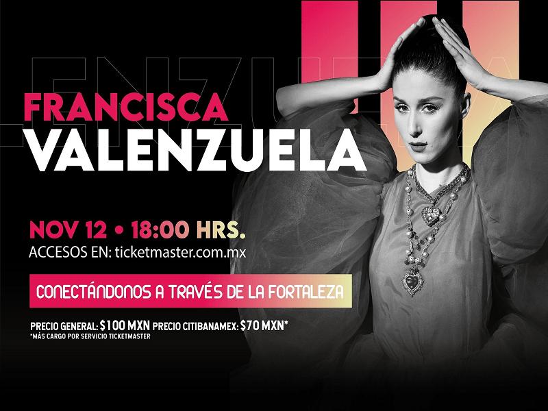 ocesa 2020.11.12 Francisca Valenzuela