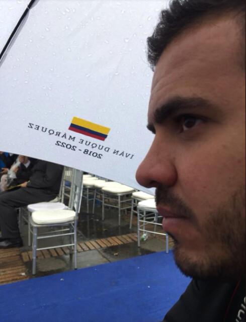 7 de agosto de 2018, el piloto del Cartel de Sinaloa en la posesión de Iván Duque.
