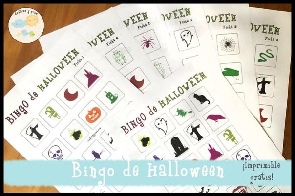 Bingo de Halloween. Imprimible gratis