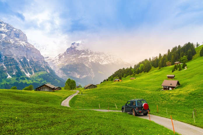 Beautiful Landscape of Grindelwald , Switzerland
