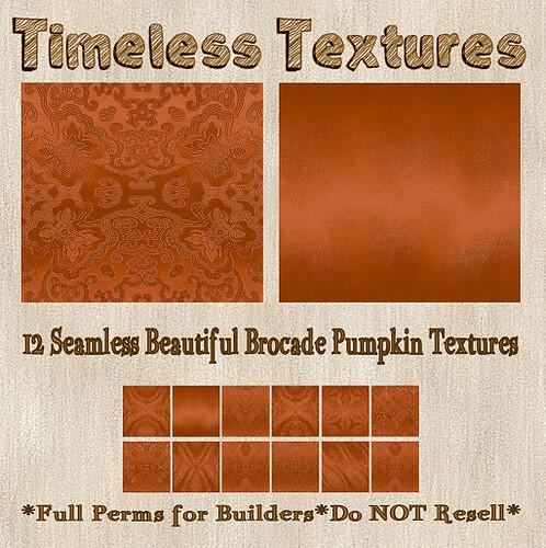 TT 12 Seamless Beautiful Brocade Pumpkin Timeless Textures