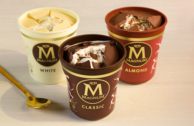 Magnum Pints in White, Classic and Almond variants
