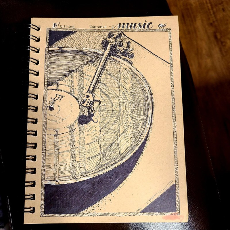 Inktober, Day 27 - Music