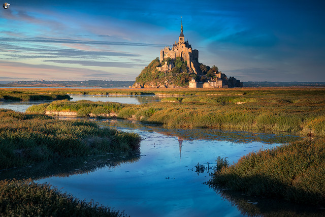 Le Mont-Saint-Michel in golden light