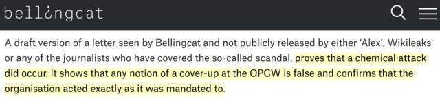 Extrait de l'article de Bellingcat
