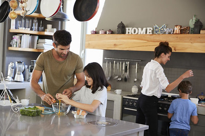 Families Cooking Together. Photo credit 123RF