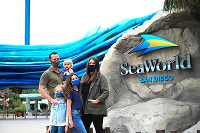 Military family at SeaWorld