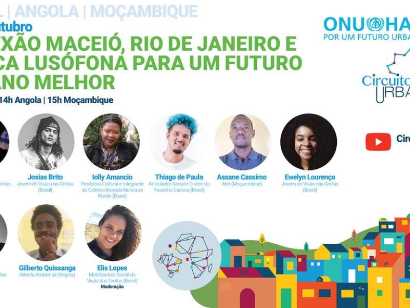 Jovens de Maceió, Rio de Janeiro e África Lusófona discutem um futuro urbano melhor