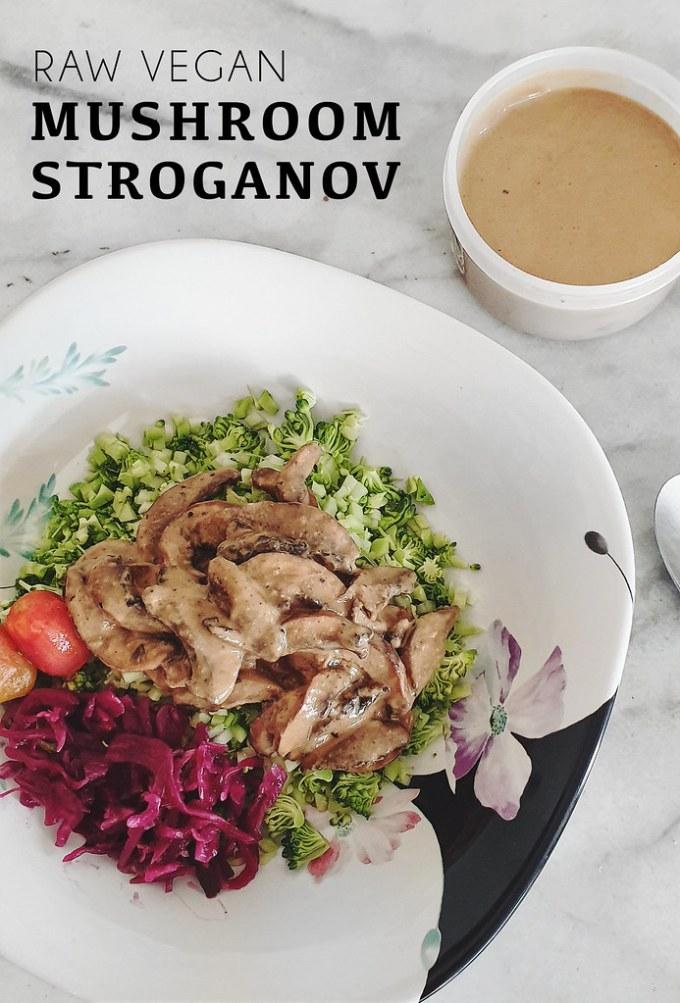 Raw Vegan Mushroom Stroganoff