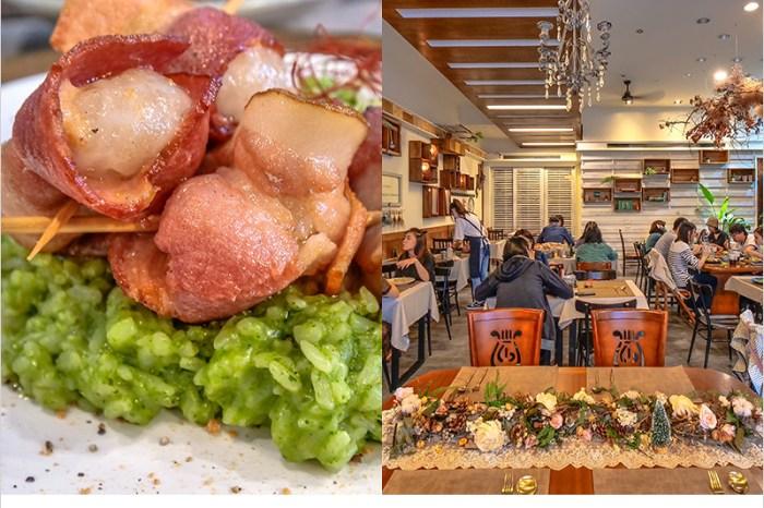 台中北區義式餐廳   村口微光一中店,花生湯圓燉飯口感特別不錯吃,老宅文青系裝潢好好拍。