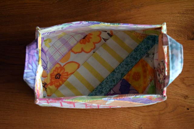 Vintage Sheets Basket