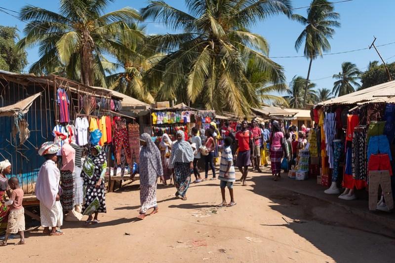 Mercado de Pemba, no distrito de Cabo Delgado, Moçambique