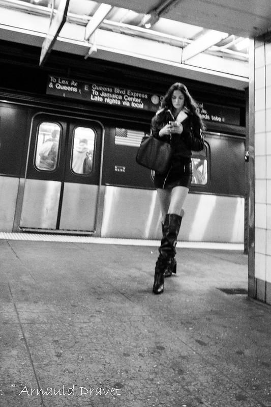 Subway direction Shopping à Manhattan - New York, New York, États-Unis - 10/05/2018 15h26
