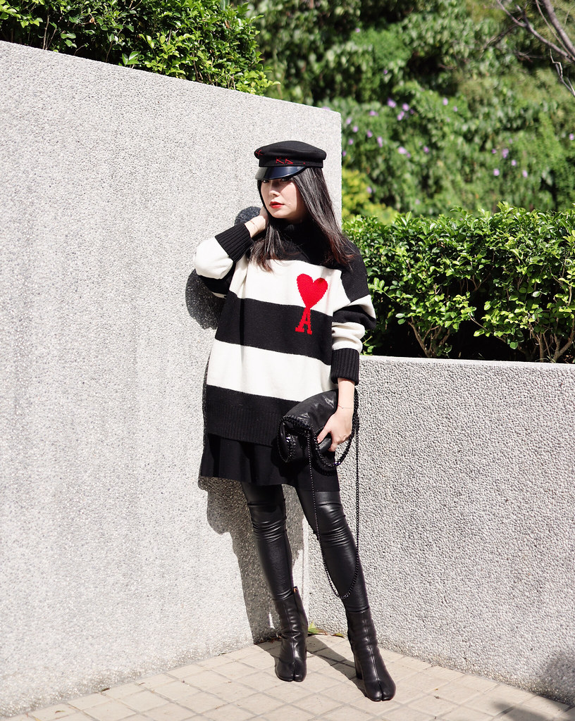 假裝我在日本之Farfetch戰利品分享: Maison Margiela Tabi短靴/ 德訓鞋 + AMI大愛心毛衣分享