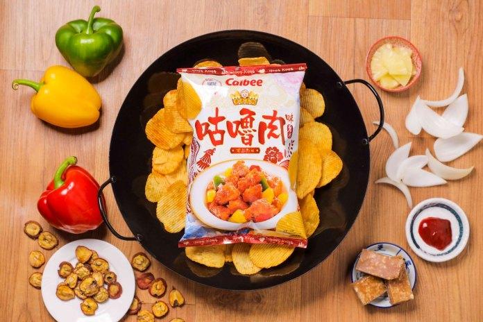 酸酸甜甜的「 卡樂B 咕嚕肉味薯片」