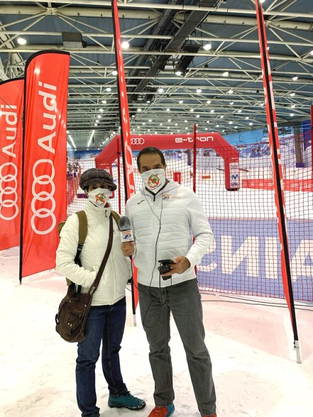 Nacho y Camille, podcast Hablamos de esquí