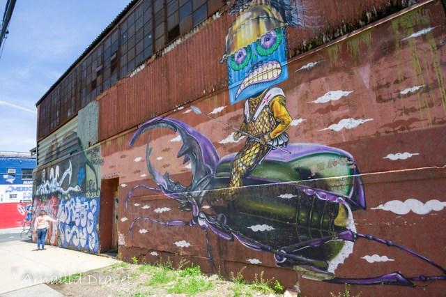 Painting in Brooklyn / Streetart - Kings County, New York, États-Unis - 11/05/2018 12h40