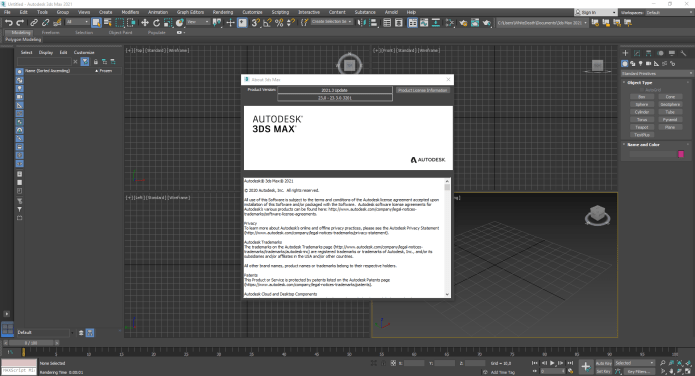 Working with Autodesk 3ds Max 2021.3 full license