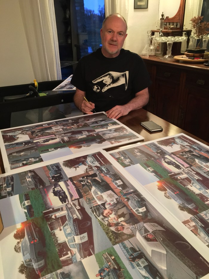 Ford Timelord returns to work on The Project to Uncover Ancient Hill Figures – 111 Lithographic Prints by Flinton Chalk