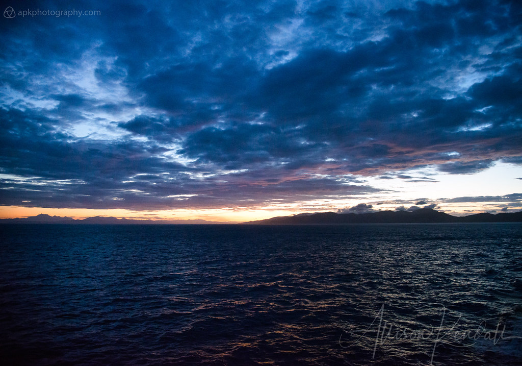 Cook Strait sunset, New Zealand