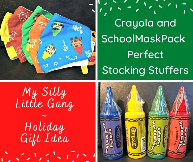 Crayola and SchoolMaskPack  Perfect Stocking Stuffers ~ Holiday Gift Idea @schoolmaskpack @MySillyLittleGang