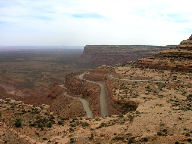 Moqui Dugway, north of Mexican Hat, UT by bryandkeith on flickr