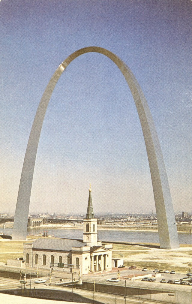 Gateway Arch and the Old Cathedral - St. Louis, Missouri