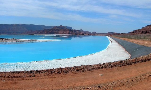 Evaporation Ponds, Potash Road, SW of Moab, UT by bryandkeith on flickr