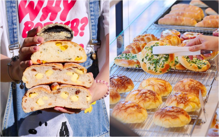 糖印麵包_台中甜點:新開秒殺麵包/超夯芝麻餐包 蔥麵包 芝士核桃堡+可頌必吃/試賣期全面8折