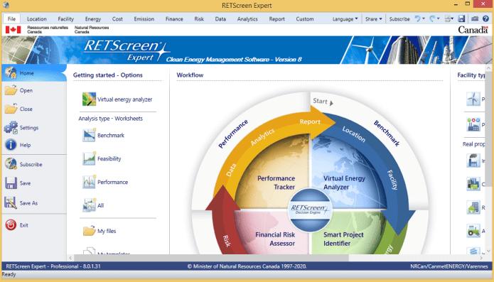 Working with RETScreen Expert 8.0.1.31 full