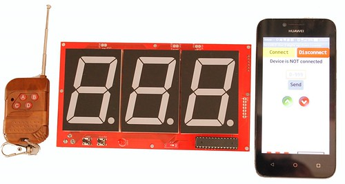 3 digits up and down counter with 2.3 inch displays