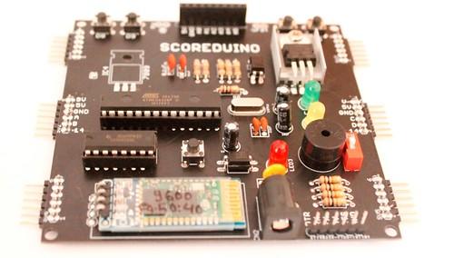 Bluetooth Controlled Digital Scoreboard based on Scoreduino-B (10)